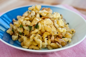 Homemade-Spaetzle-with-Herb-Butter