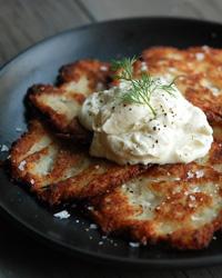 Killer Potato Latkes Food and Wine
