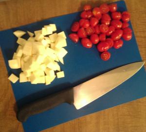 Silver Spork Tomato Mozzarella Salad