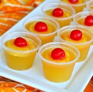 Pineapple Upside Down Jello Shots