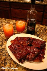 Rum Glazed Spare Ribs